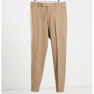 3/$60 ASOS DESIGN Camel Slim Suit Pants SZ 36x32